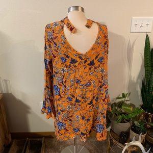 Xhilaration Dresses - NWOT • flowy choker boho dress